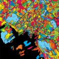 Oslo Norway Colorful Map - Hebstreits