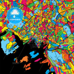 Oslo Norway Colorful Map