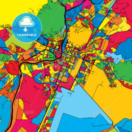 Podgorica Montenegro Colorful Map