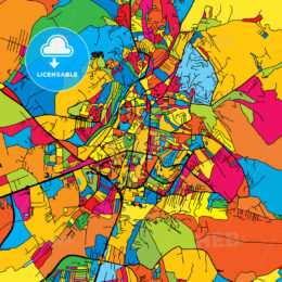 Pristina Kosovo Colorful Map