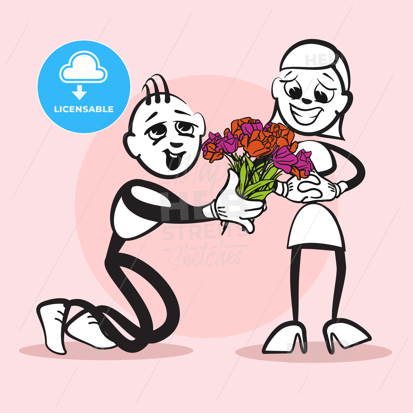 Proposal Marriage Stickman Emotion - Hebstreits