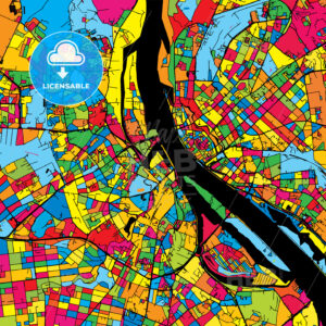 Riga Latvia Colorful Map - HEBSTREIT's Sketches