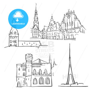 Riga Latvia Famous Buildings - Hebstreits