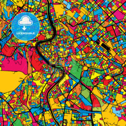 Rome Italy Colorful Map