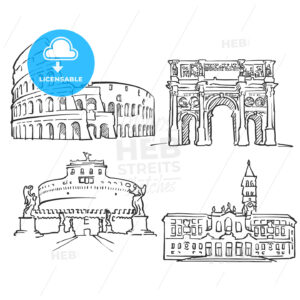Rome Italy Famous Buildings - Hebstreits