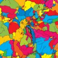 San Marino Colorful Map - Hebstreits