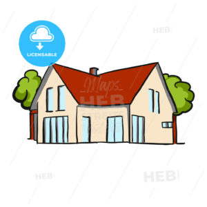 Small Cottage Vector Artwork - Hebstreits