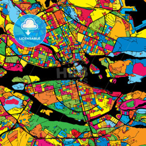 Stockholm Sweden Colorful Map - HEBSTREIT's Sketches