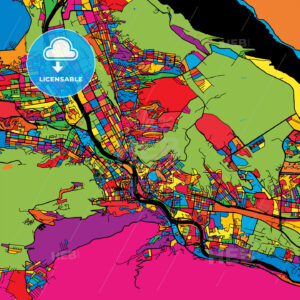 Tbilisi Georgia Colorful Map - HEBSTREIT's Sketches