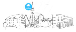 Vaduz Liechtenstein Panorama Sketch