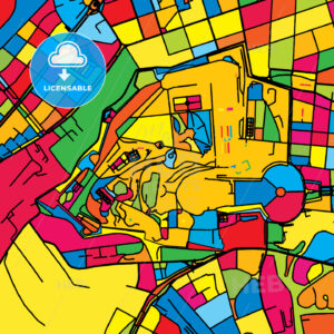 Vatican City, Holy See, Colorful Map - HEBSTREIT's Sketches