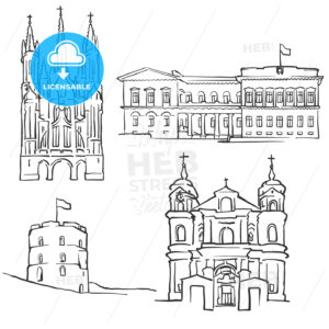Vilnius Lithuania Famous Buildings - Hebstreits