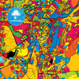 Yerevan Armenia Colorful Map