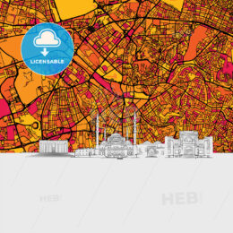 Ankara Skyline Map