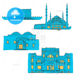 Ankara, Turkey, Colored Landmarks