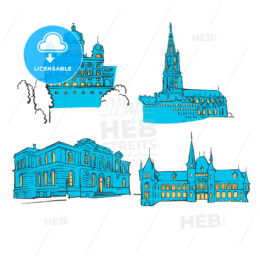 Bern Colored Landmarks