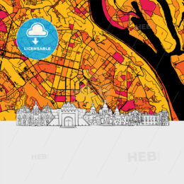 Kyiv Skyline Map