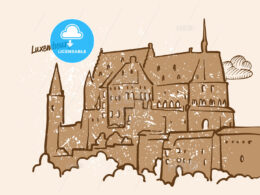 Luxembourg, Greeting Card