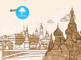 Moscow, Russia, Greeting Card