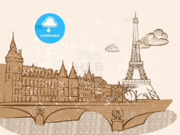 Paris, France, Greeting Card