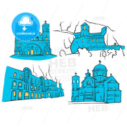 Podgorica, Montenegro, Colored Landmarks