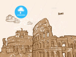 Rome, Italy, Greeting Card