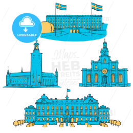 Stockholm Colored Landmarks