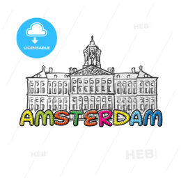 Amsterdam beautiful sketched icon