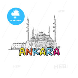 Ankara beautiful sketched icon