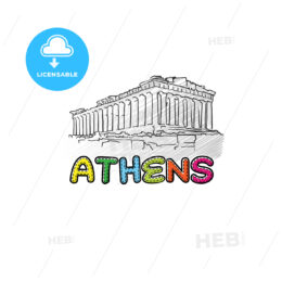 Athens beautiful sketched icon