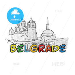 Belgrade beautiful sketched icon