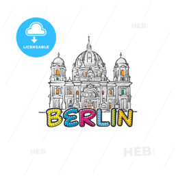 Berlin beautiful sketched icon