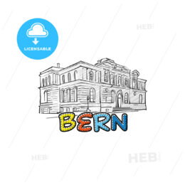 Bern beautiful sketched icon