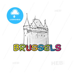 Brussels beautiful sketched icon