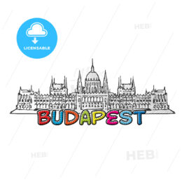 Budapest beautiful sketched icon