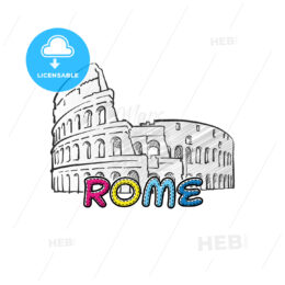 Rome beautiful sketched icon