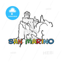 San Marino beautiful sketched icon