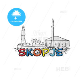 Skopje beautiful sketched icon
