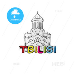 Tbilisi beautiful sketched icon