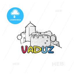 Vaduz beautiful sketched icon
