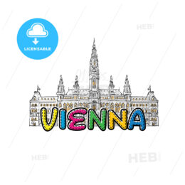 Vienna beautiful sketched icon