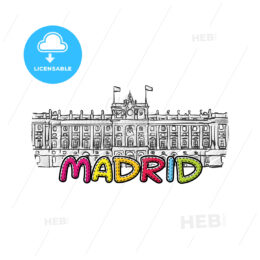 madrid beautiful sketched icon
