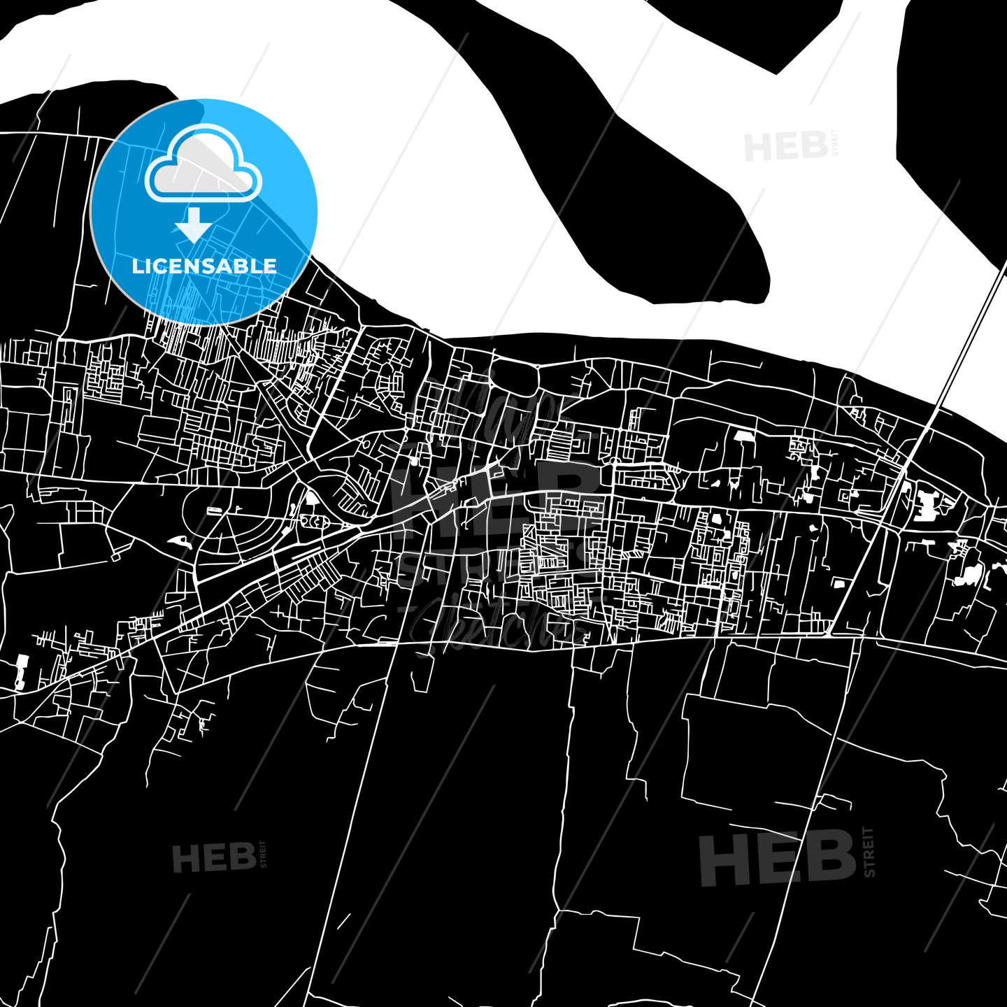 Patna In India Map.Patna India Downtown Map Dark Hebstreits