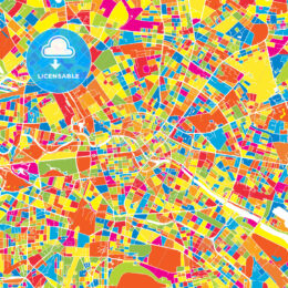 Berlin, Germany, colorful vector map