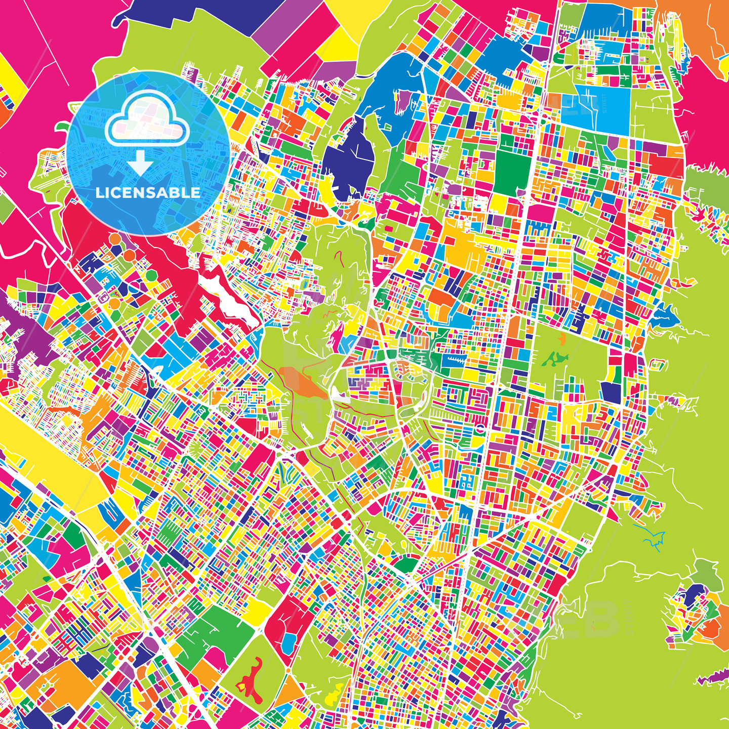 Bogotá, Colombia, colorful vector map on sao paulo brazil map, caracas map, havana map, lima on map, san pedro sula map, boston map, mexico city map, dhaka map, buenos aires map, colombia map, cartagena map, quito map, chicago map, bratislava map, paramaribo map, leticia map, santiago map, asuncion map, rio de janeiro map, brasillia map,