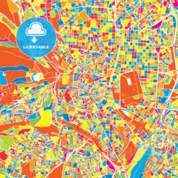 Madrid, Spain, colorful vector map