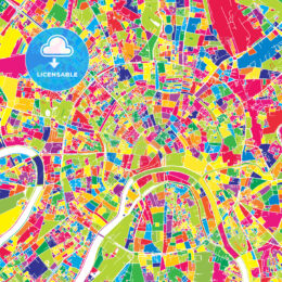 Moscow, Russia, colorful vector map