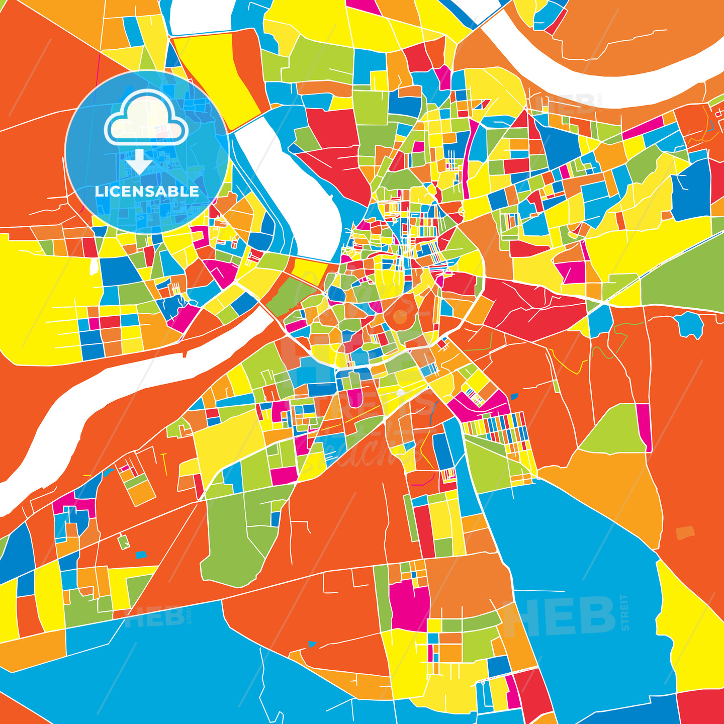 Surat India Colorful Vector Map