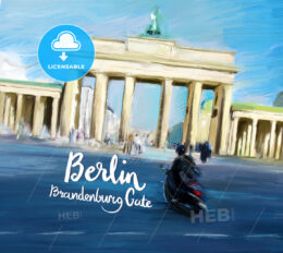 Berlin Brandenburg Gate Movie Poster Design