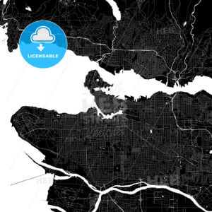 Vancouver Canada Download PDF Map - HEBSTREITS